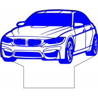 3D Lampe - Bilfigur BMW