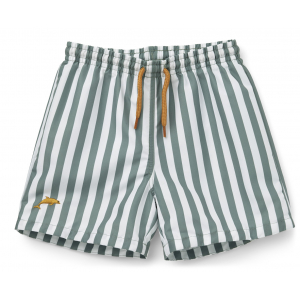 LIEWOOD - DUKE BADESHORTS STRIPE PEPPERMINT/WHITE