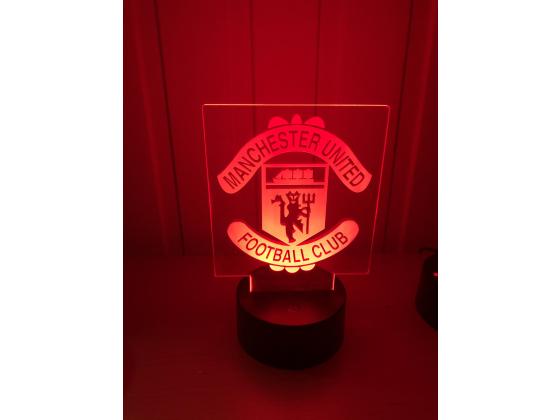 3D Lampe - Fotball - Manchester united