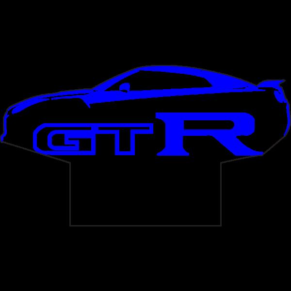 3D Lampe - Bilfigur Nissan GTR