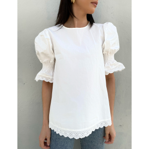 Drucilla Blouse - White