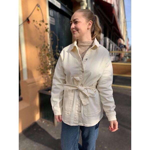 Ellen jeansjakke offwhite