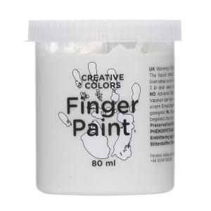 Fingermaling 80 ml Hvit
