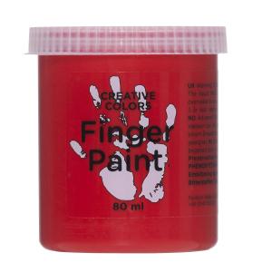 Fingermaling 80 ml Rød