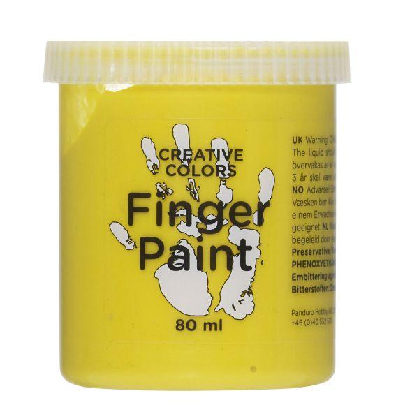 Fingermaling 80 ml Gul