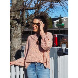 Pauline Welda Flower Shirt Amber