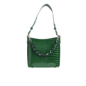 Amble croco liten Pine green