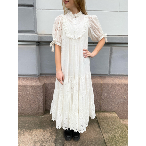 Broderie Anglaise Midi Dress - White