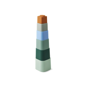 LIEWOOD - ZAZU STACKING CUPS DOVE BLUE MULTI MIX