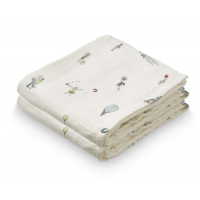 2 PK MUSLIN KLUT - HOLIDAY