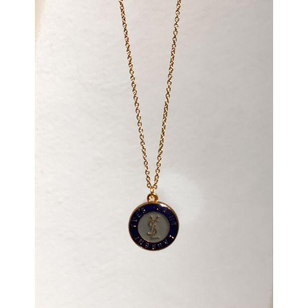 YSL Redesign Smykke Medium - Blå/Gold