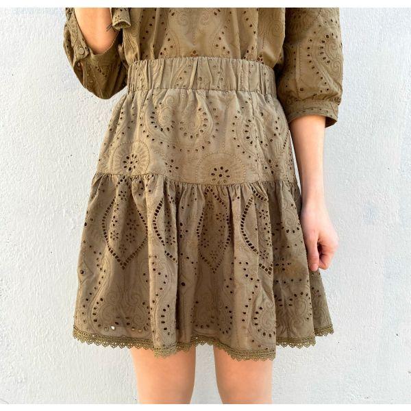 Tara Skirt - Military Olive