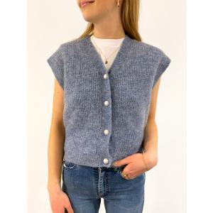 Girona Knit Vest - Blue