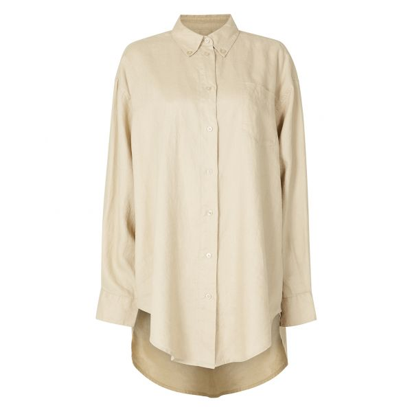 Masculin Linen Shirt Sand