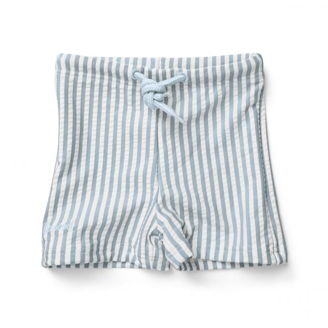 LIEWOOD - OTTO SWIM PANTS SEERSUCKER STRIPE SEA BLUE/WHITE