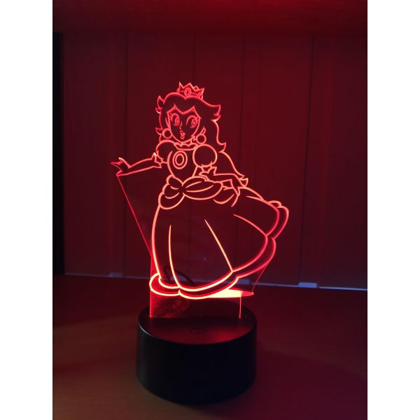 3D Lampe - Prinsesse Peach