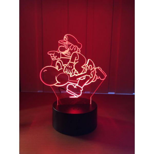 3D Lampe - Mario og Yoshi