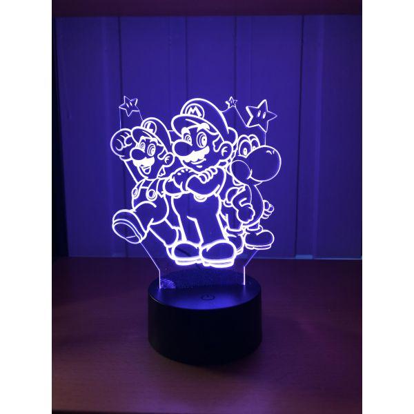 3D Lampe - Mario, Luigi og Yoshi