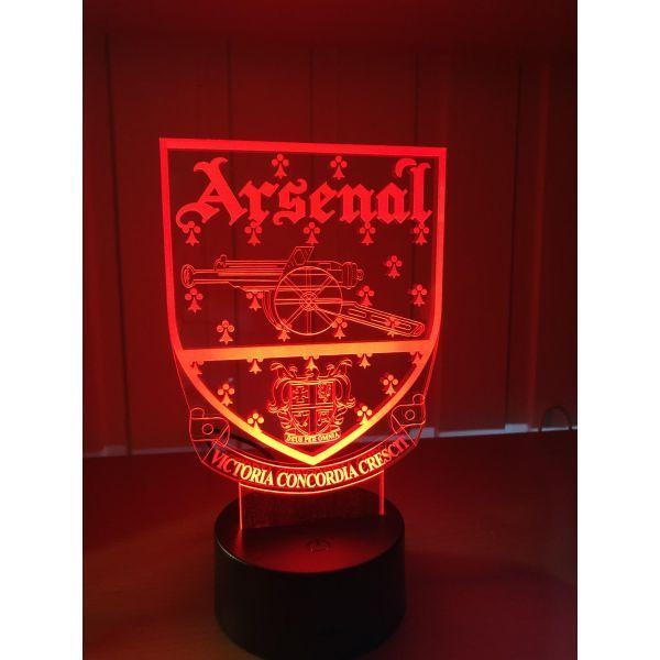 3D Lampe - Fotball - Arsenal