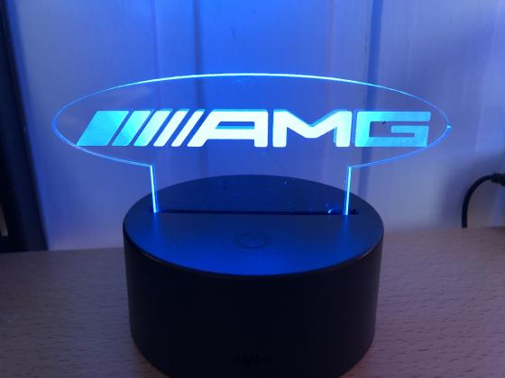 3D Lampe - Bilmerke AMG