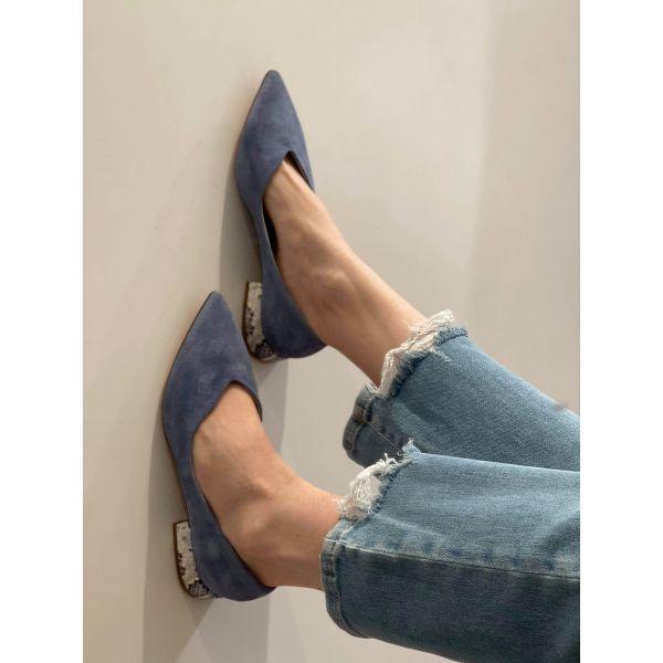 Velour Jeans flats