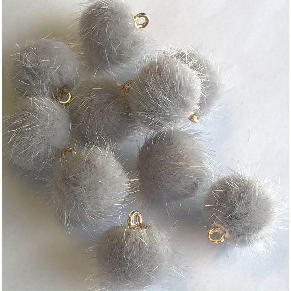 Pompom - Sølv grå