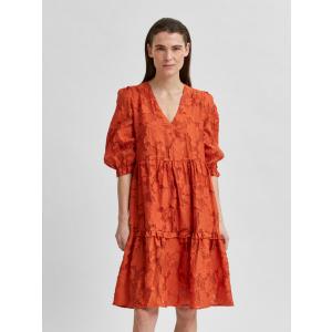 Sadie kjole kort orange