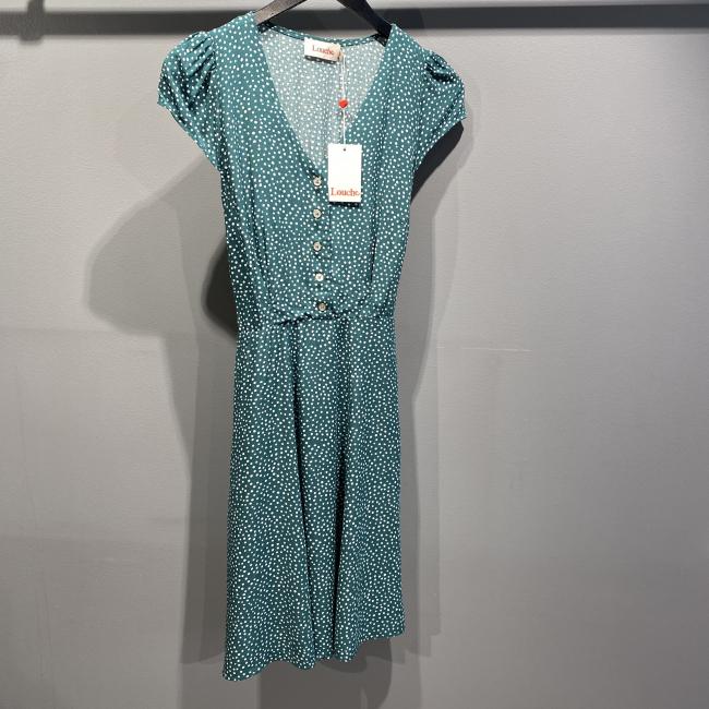 Cathleen Mini Dot Tea Dress