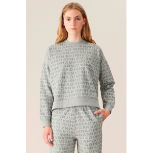 JACQUARD ISOLI DROPPED SHOULDER SWEATSHIRT