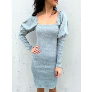 Sunna Short Dress - Slate Grey
