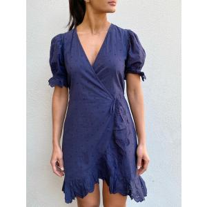 Irina Dress Puff Oxford Blue