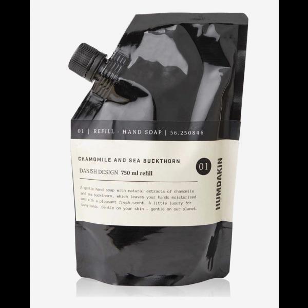 Humdakin hand soap refill, Chamomile and buckthorn