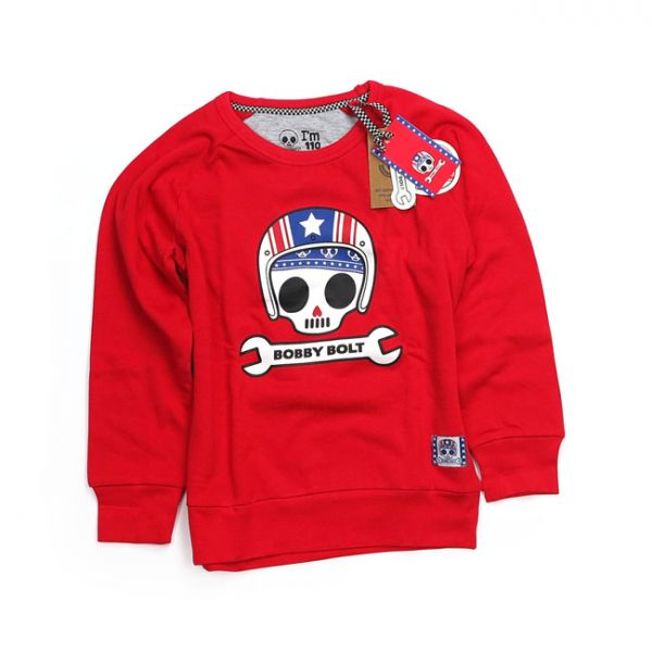 BOBBY BOLT USA SWEATER RED
