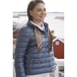 Herno Blue scarf Jacket PI1266D12017