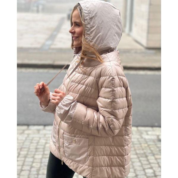 Herno Pink hooded jacket PI1237D12017