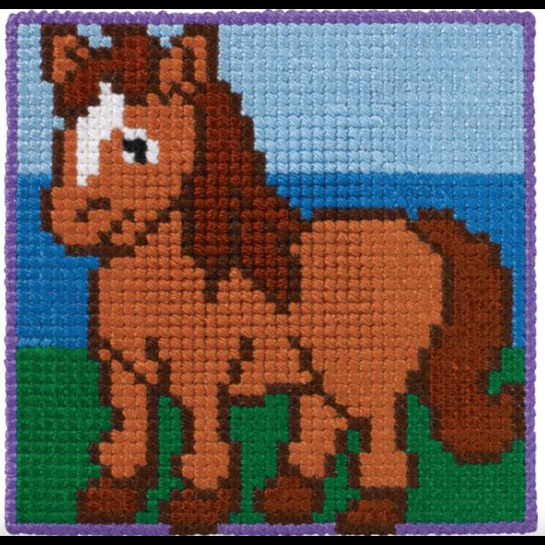 Barnebroderi - Hest