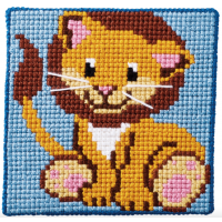 Barnebroderi - Løve