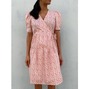 Ricca Wrap Dress - Roseate Spoonbill