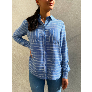 Elma Shirt - Blue Stripes