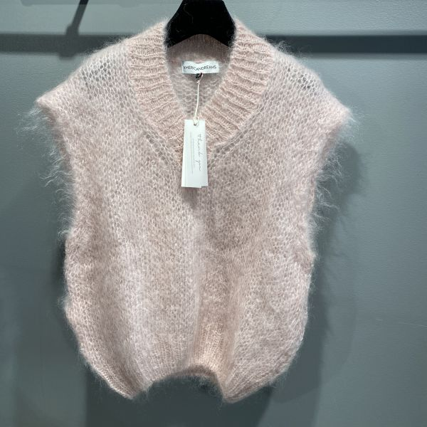 Elena Mohair Vest Pale Pink