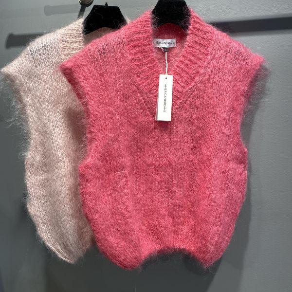 Elena Mohair Vest Pink
