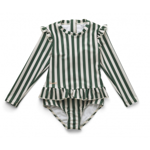 LIEWOOD - SILLE SWIM JUMPSUIT STRIPE GARDEN GREEN/SANDY