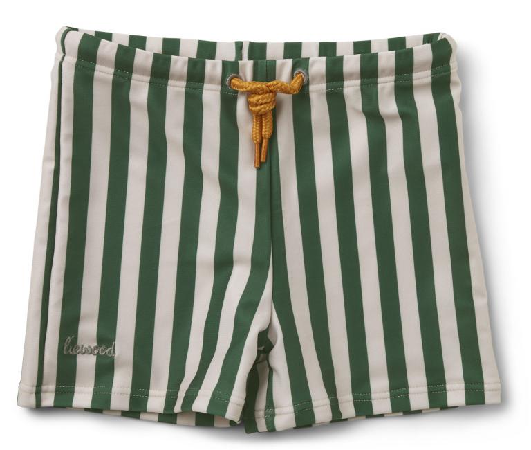 LIEWOOD - OTTO SWIM PANTS STRIPE GARDEN GREEN/SANDY