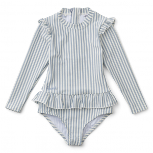 LIEWOOD - SILLE SWIM JUMPSUIT SEERSUCKER STRIPE SEA BLUE/WHITE