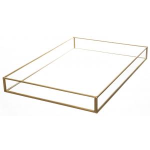 Lysfat gull/glass 23x34cm