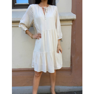 Naida 3/4 Dress - Sandshell