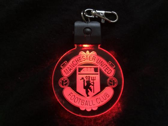 Nøkkelring med ledlys - Manchester united