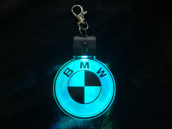 Nøkkelring med ledlys - BMW