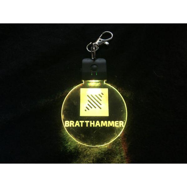 Nøkkelring med ledlys - Bratthammer