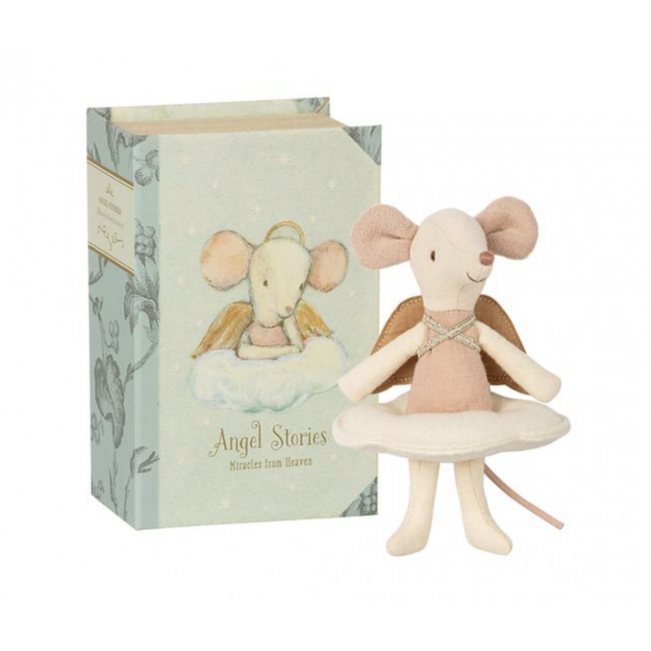 MAILEG angels stories, big sister mouse in a book
